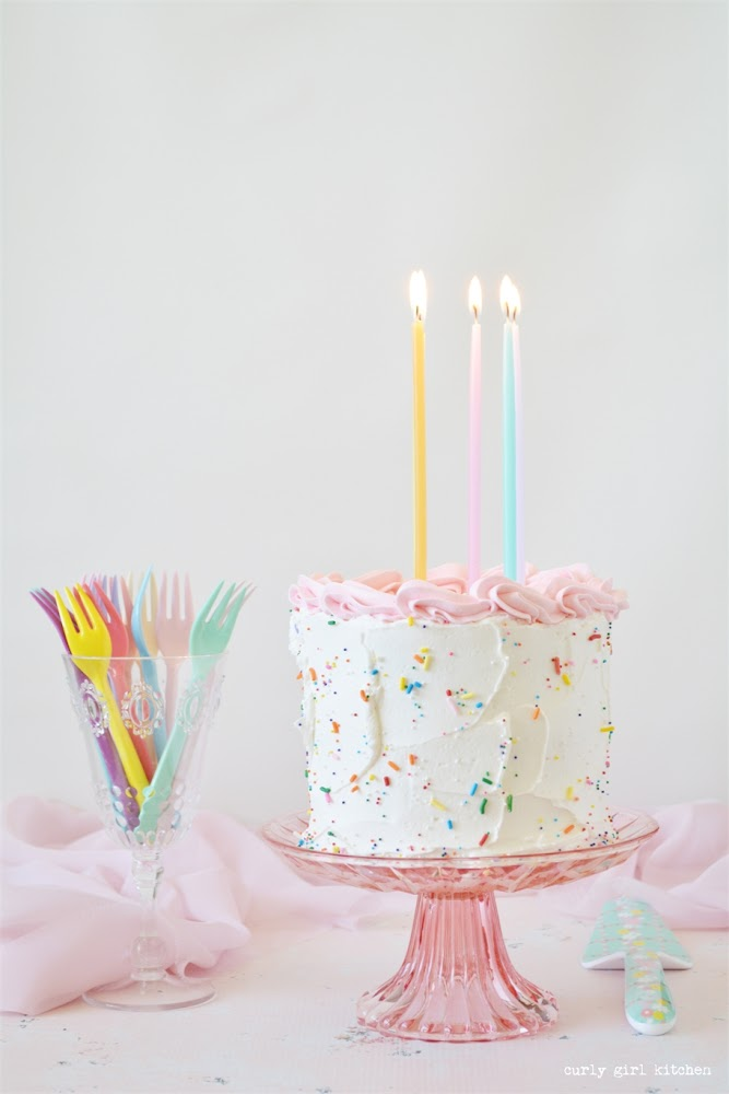 Buttermilk Birthday Cake, Buttermilk Cake Recipe, White Cake, White Velvet Cake, Sprinkle Cake