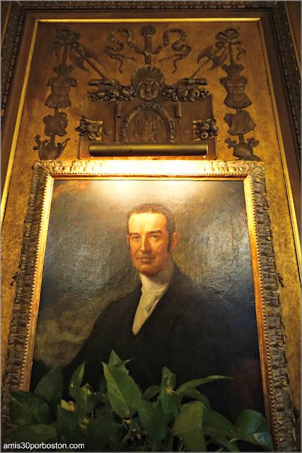 Retrato de Cornelius Vanderbilt II en la Biblioteca de The Breakers, Newport