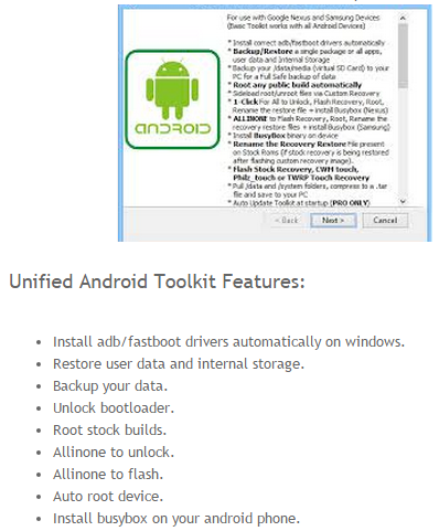 Unified Android Toolkit New Version V1.4.0 Free Download