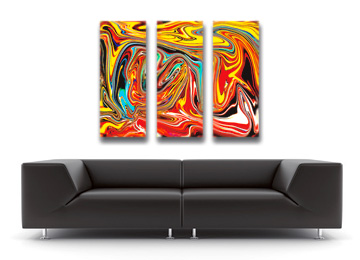 surreal, abstract, trippy, wall art, multi coloured, canvas art, contemporary, modern, swirly, Sam Freek,