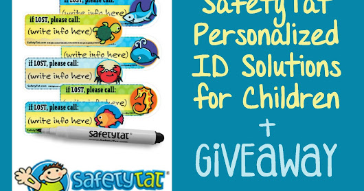 SafetyTat Personalized ID Solutions for Children Review + GIVEAWAY