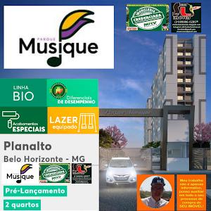 Parque Musique, Pré-Lançamento, 2 quartos, Planalto, BH, MG