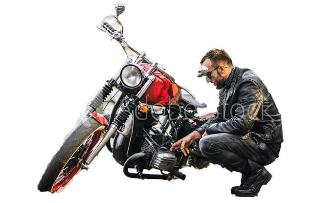 バイクと人物「被写体を選択」