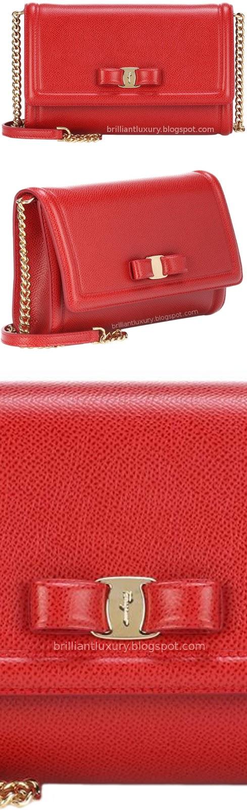 Brilliant Luxury ♦ Salvatore Ferragamo Vara mini red shoulder bag