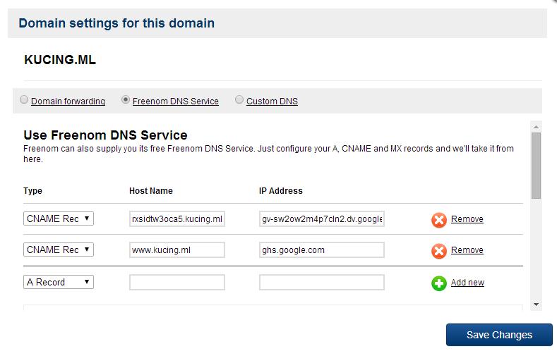 Si Penjual Aiskrim: Pointing  ml Domain to Blogspot