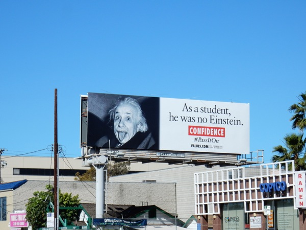 Einstein Confidence Values billboard