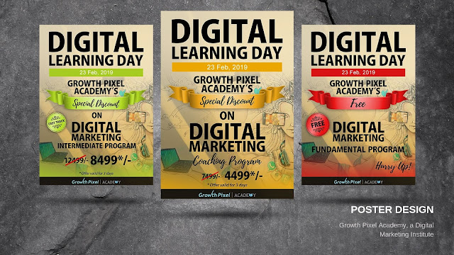 Poster Design of Digital Marketing Course for Growth Pixel Academy