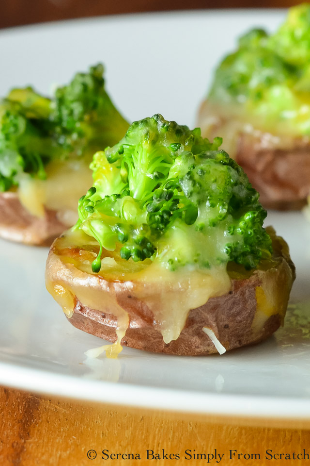 5 Loaded Mini Potato Recipes - Cheesy Broccoli