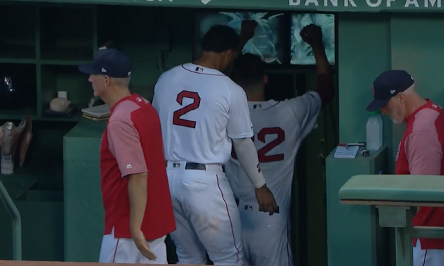 Rick Porcello shatters monitors in Red Sox dugout 7/31/2019