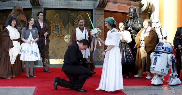 Wow, di Hollywood Ada Pernikahan Terunik Ala Star Wars, Seperti Apa Ya Keseruannya?
