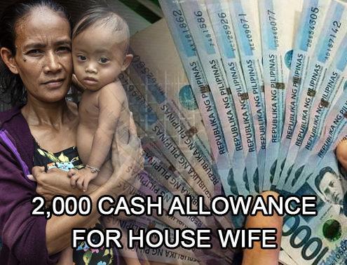 P 2,000 na allowance para sa mga House Wife, Isinusulong na batas! Paano nga ba ito. Alamin!