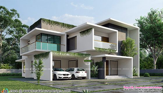 Side elevation of a Modern contemporary home