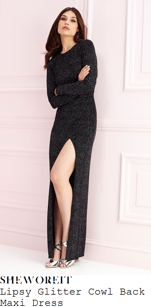 ferne-mccann-lipsy-black-glitter-embellished-long-sleeve-cowl-back-tie-detail-split-front-maxi-dress