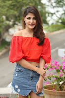 Rhea Chakraborty in Red Crop Top and Denim Shorts Spicy Pics ~  Exclusive 075.JPG