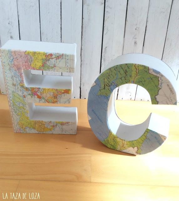 letras-de-carton-decoradas-con-mapas