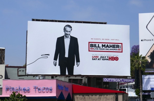 Bill Maher Live Oklahoma HBO standup billboard