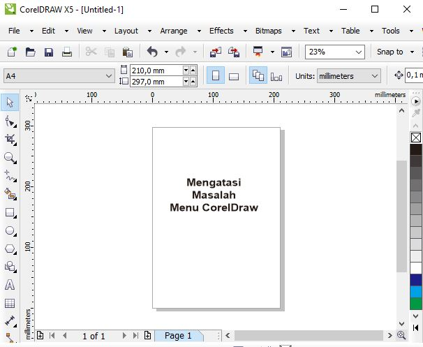 Cara Mengatasi Menu CorelDraw Transparan (Putih) di Windows 10