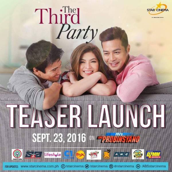 Star Cinema announces teaser launch for The Third Party starring Zanjoe Marudo, Sam Milby, and Angel Locsin