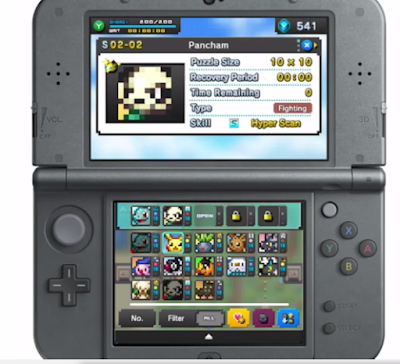 Pokémon Pokemon Picross Pancham free-to-start free to play 3DS