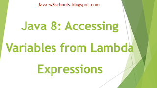 Java 8: Accessing Variables from Lambda Expressions