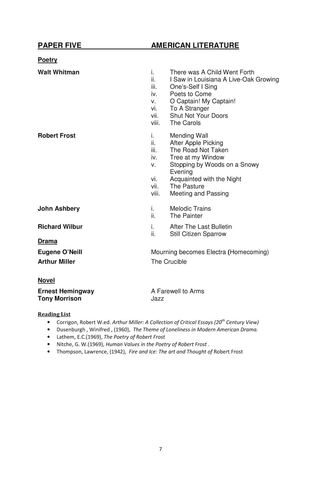 Latest Syllabus of M A English ~ Sadaqat Academy