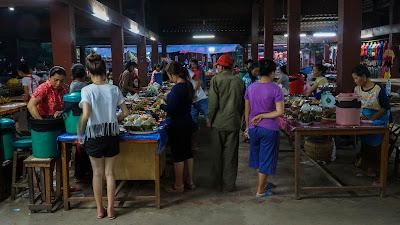 Walking around the night market in Luang Namtha