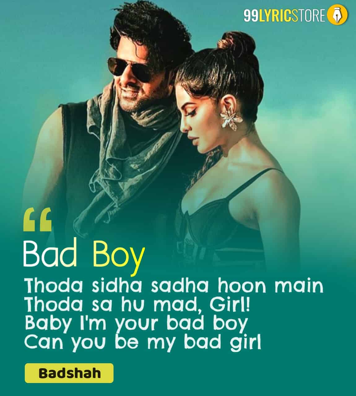 Bad Boy Hip Hop Song sung by Badshah From Movie Saaho