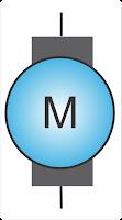Symbol of a DC motor