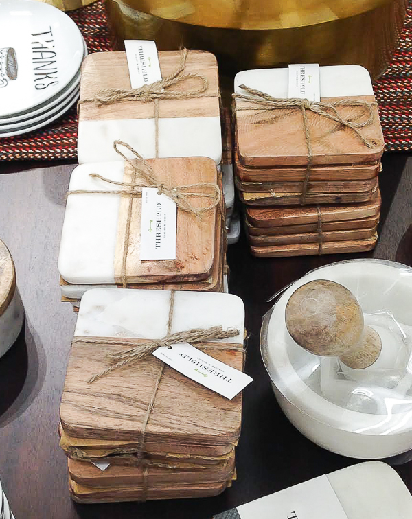 Knock Off: DIY Wood and Faux Marble Coasters | Little ...
