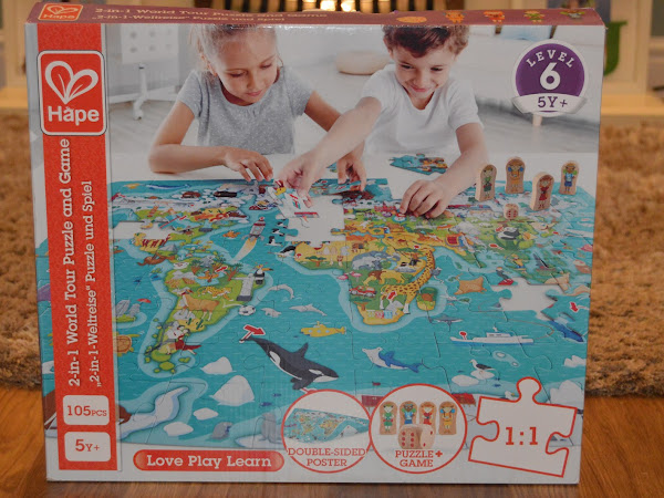 Gifted Review | Hape 2 in 1 World Puzzle