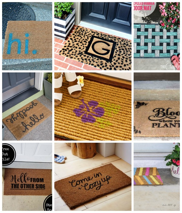 DIY door mat ideas