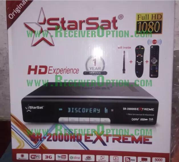 STARSAT SR-2000HD EXTREME RECEIVER NEW SOFTWARE V2.92