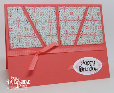 ODBD Medallion Sentiments, ODBD Cozy Quilt Paper Collection, ODBD Custom Pierced Ovals Dies, Card Designer Angie Crockett