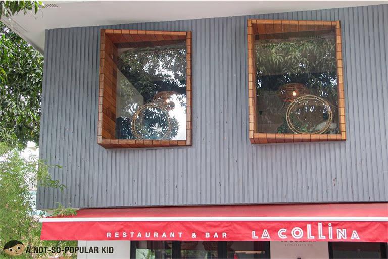 Facade of La Collina Restaurant and Bar in Poblacion, Makati
