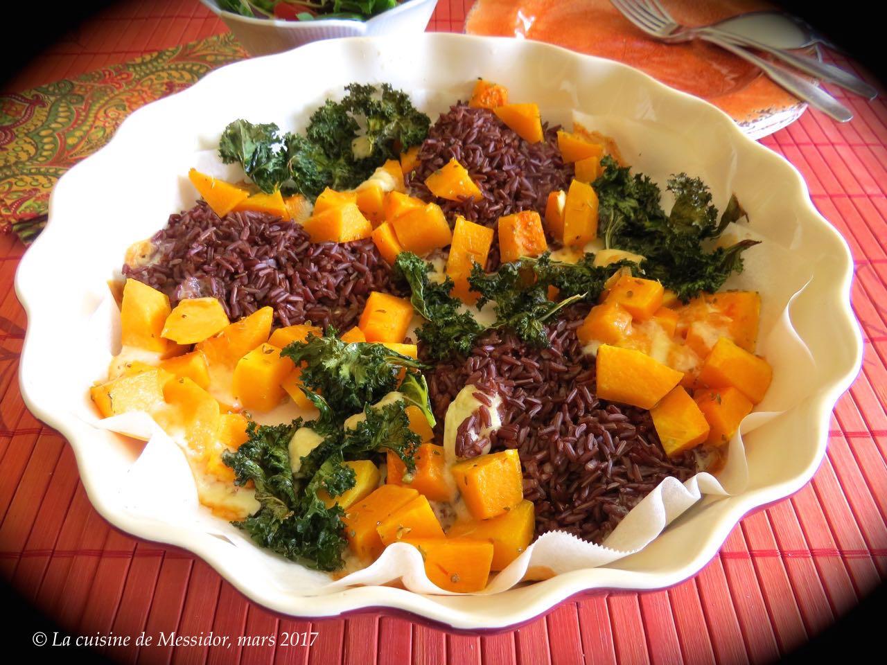 La cuisine de messidor assiette gourmande au riz rouge for Assiette cuisine