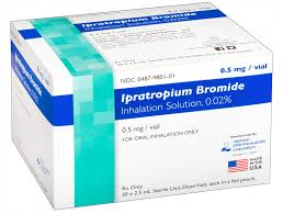 Anticholinergic bronchodilator used in bronchospasm associated with COPD, bronchitis, and emphysema.