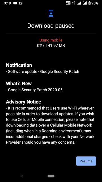 Nokia 6.1 receiving June 2020 Android Security patch