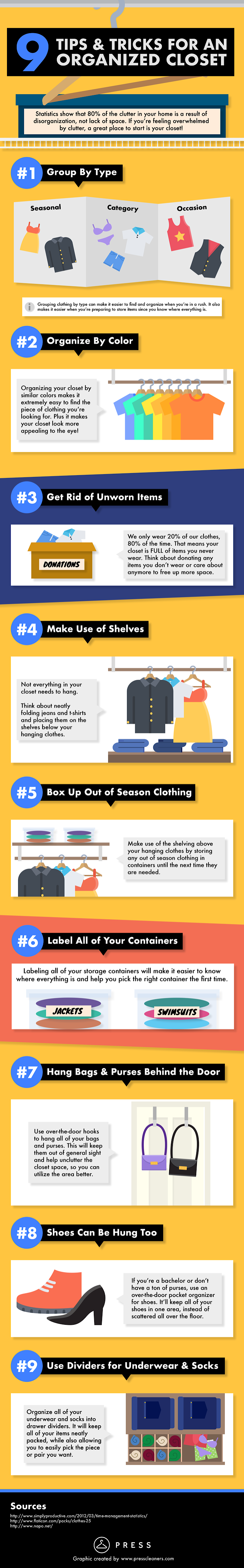 How to Organize Your Closet? - Infographic