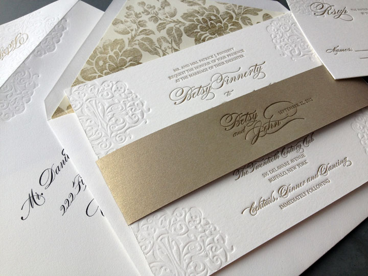 Reading Elegant Wedding Invitations Tweet This