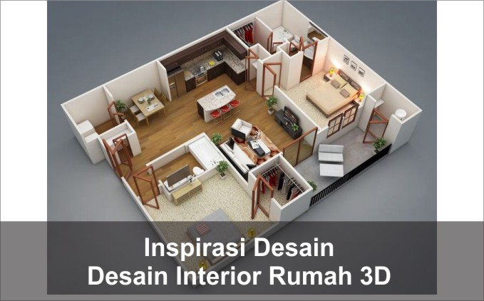 desain interior rumah 3d
