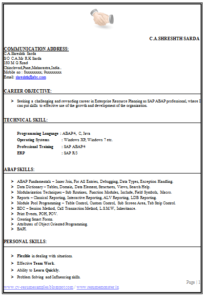 Sample Resume For Articleship Free Professional Resume Templates