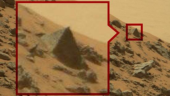 Imagens misteriosas de Marte - Pirâmide em Marte