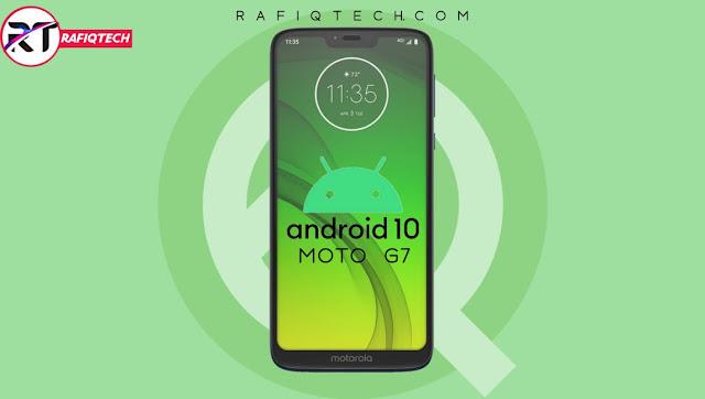 تحديث Android 10 لهاتف Moto G7