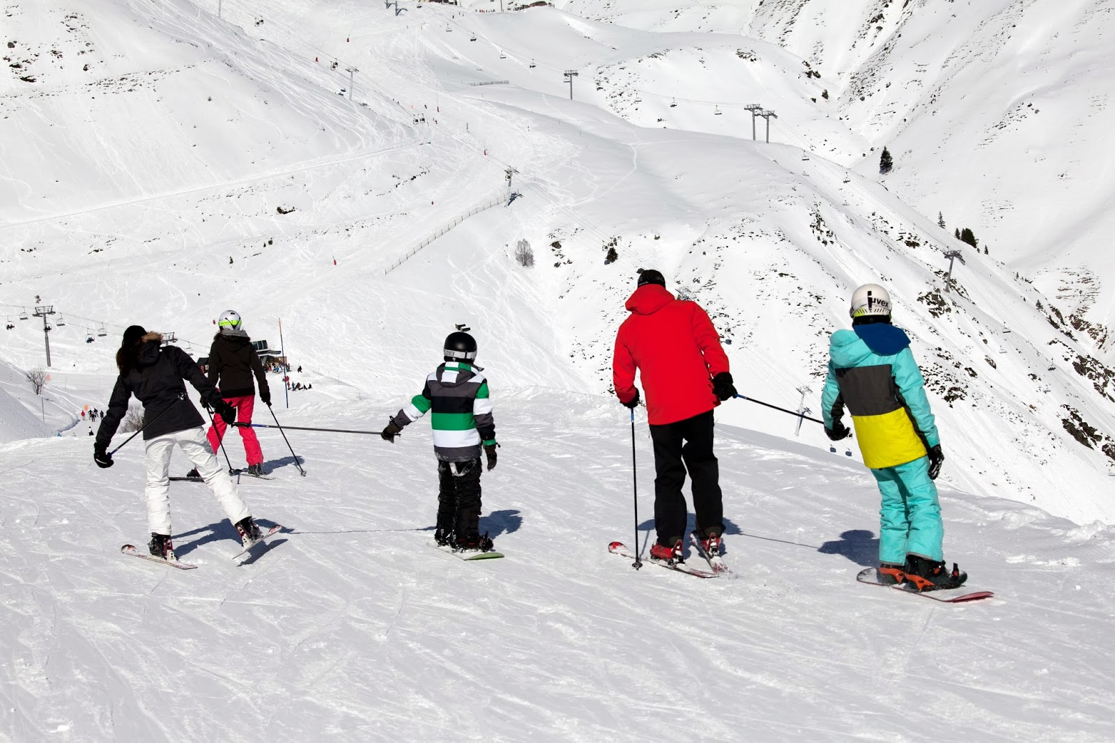 Family Skiing in Saint Lary, French Pyrenees