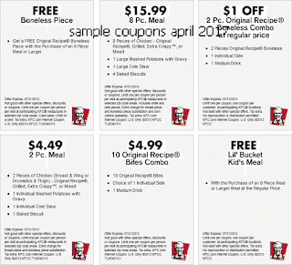 Kfc coupons april