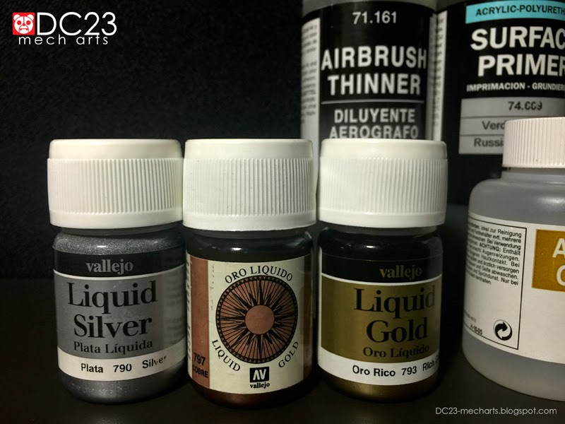 Some Vallejo Acrylic Supplies to Testphoto