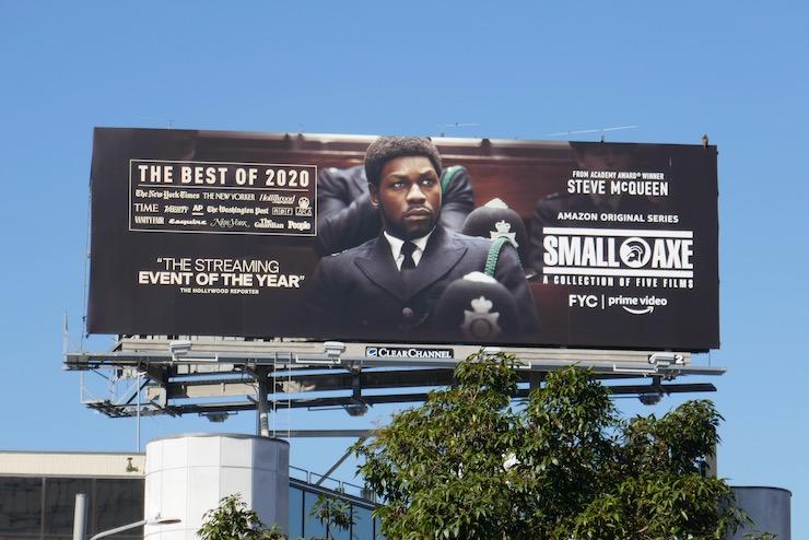 Small Axe John Boyega FYC billboard