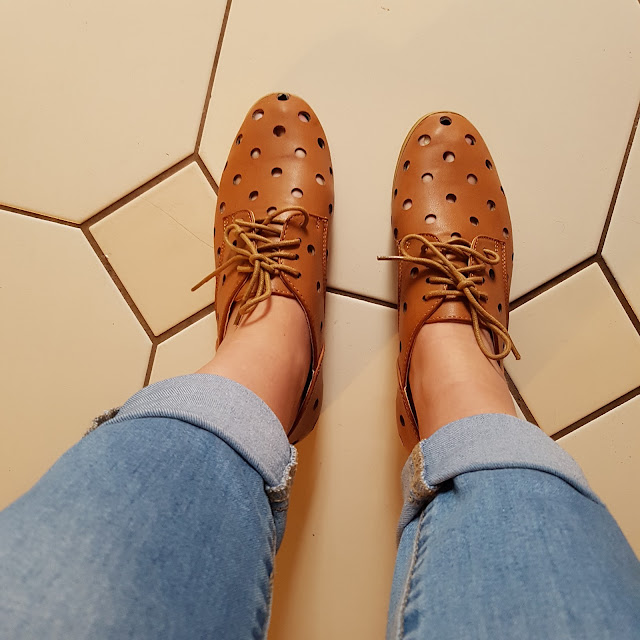Rubi Shoes polka dot brogues | Almost Posh