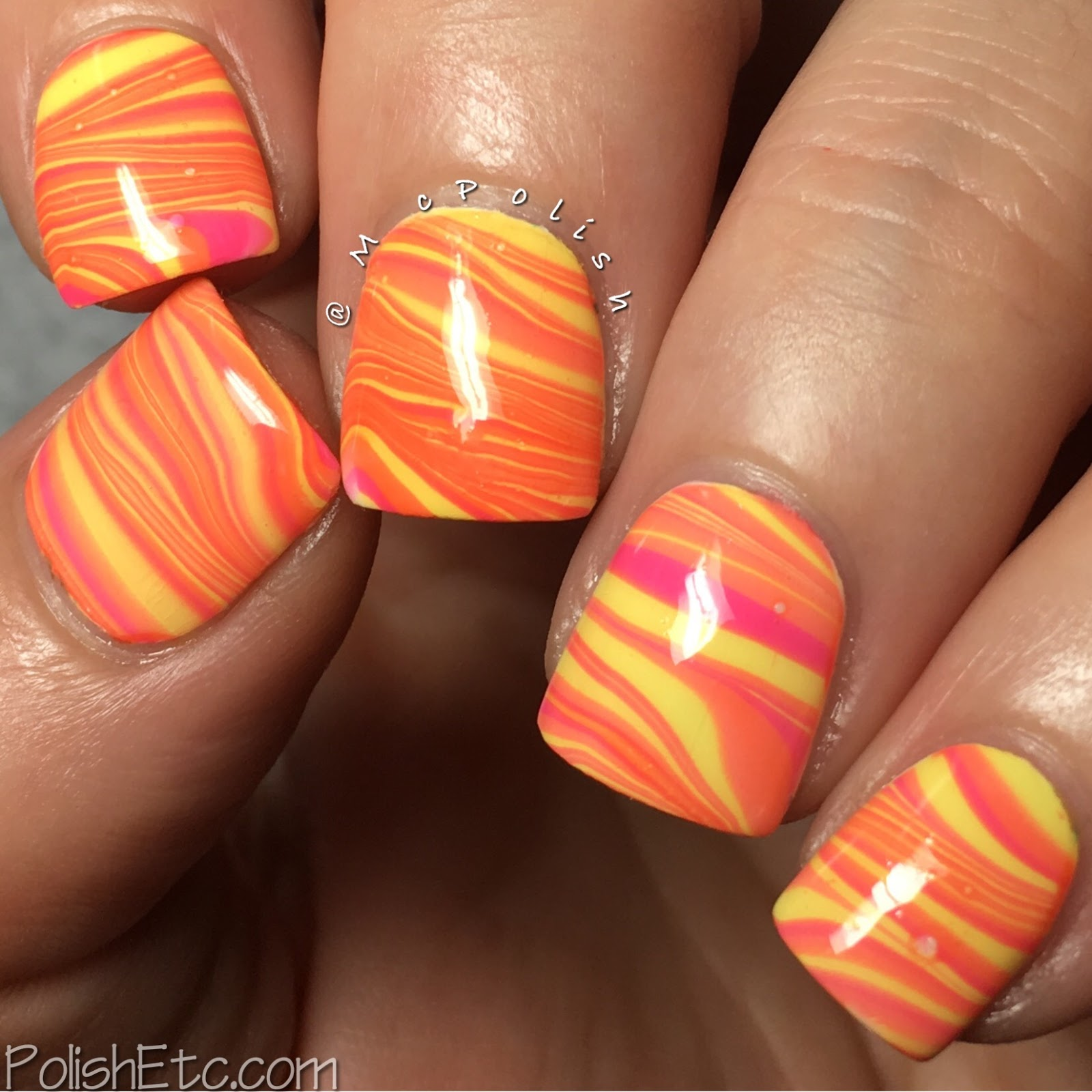 Watermarble Nails for the #31DC2017Weekly - McPolish