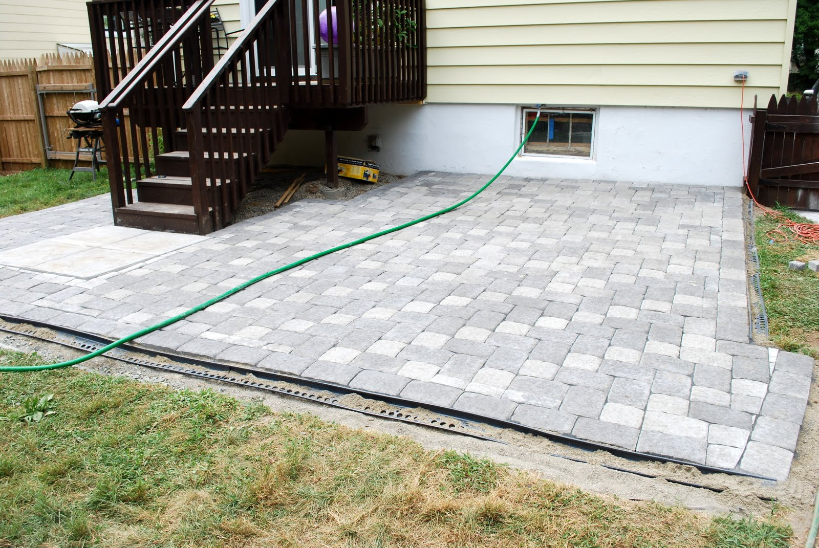Around Patio Pavers Fair Pavers Around Concrete Patio Home ...